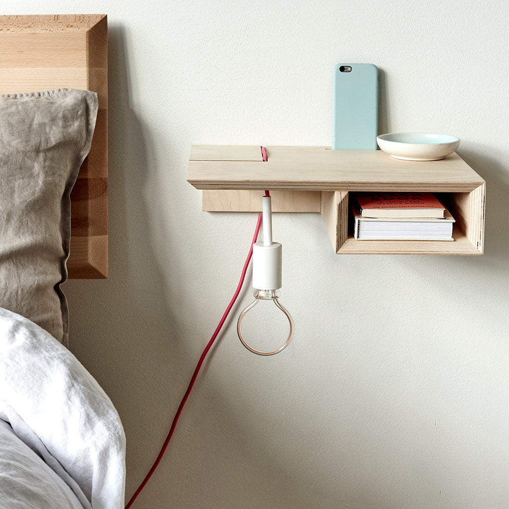 Plywood Floating Bedside Table - PAIR