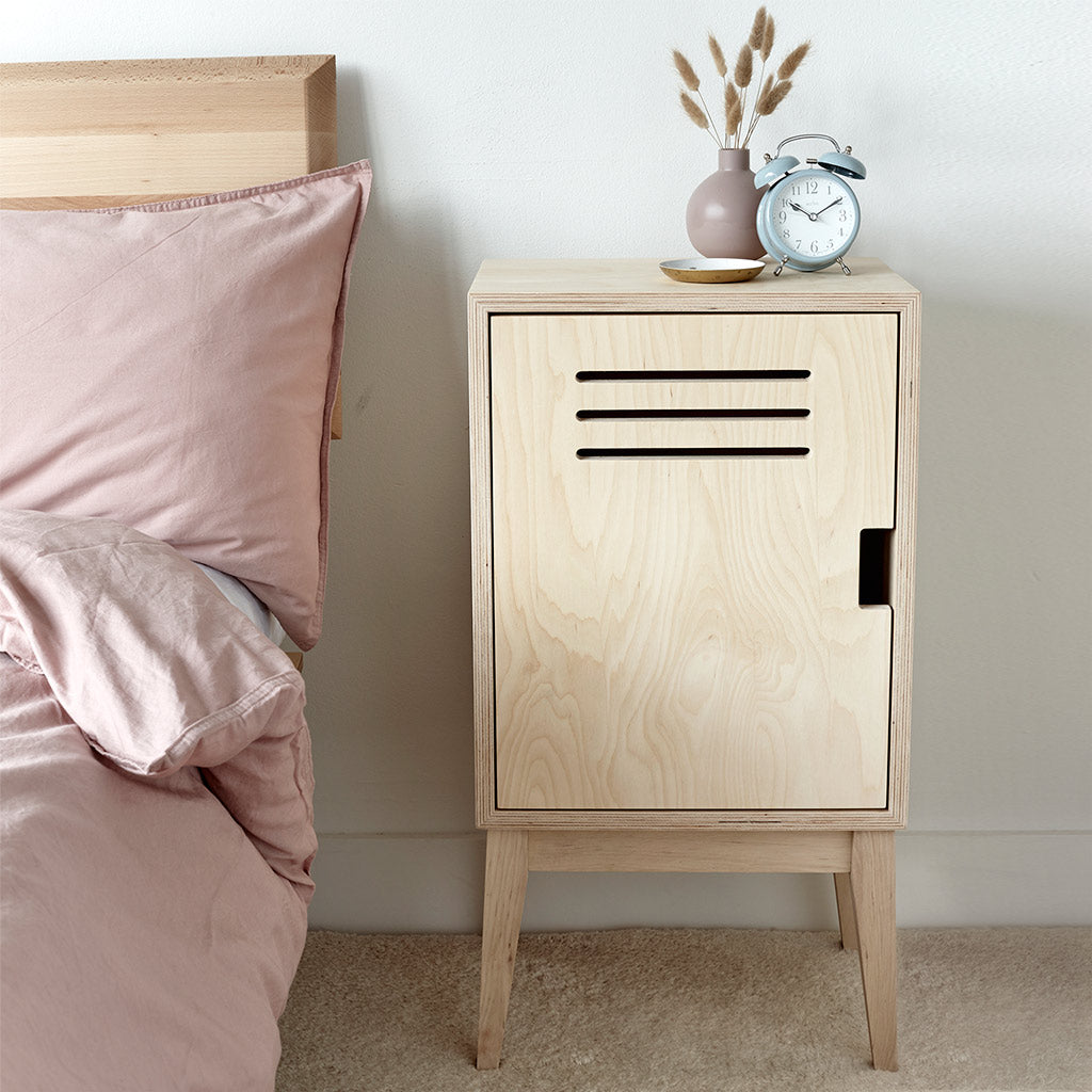 Plywood Locker Bedside Table