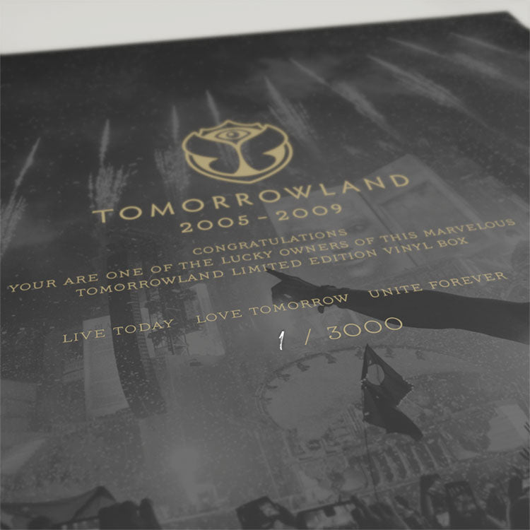 Tomorrowland 5 LP Box 2005-2009 Anthems - Number 1 of 3,000