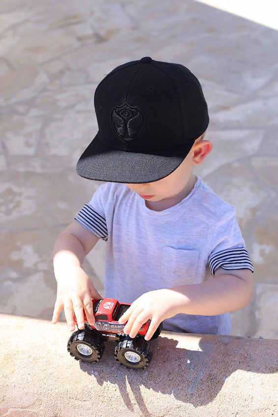 Black Logo Cap Kids