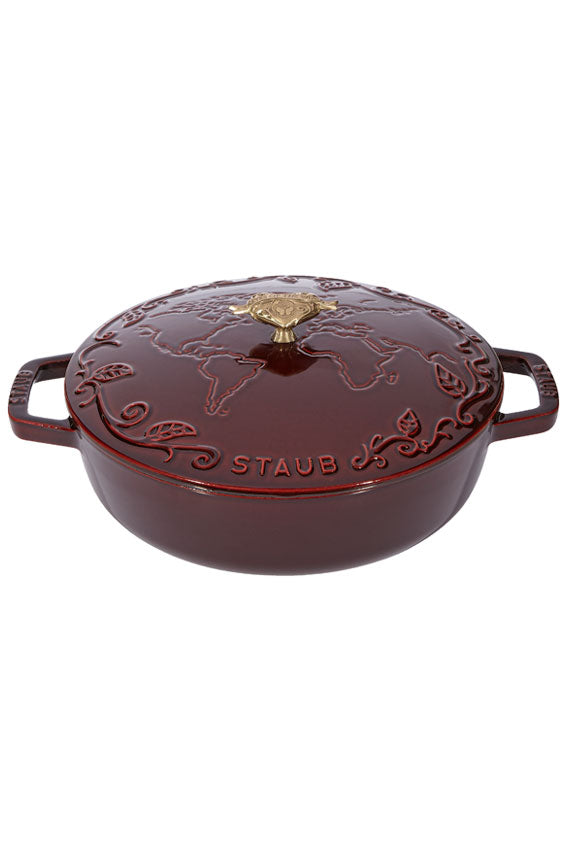 Tomorrowland Low Cocotte Red by Staub