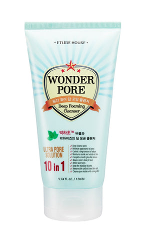 ETUDE HOUSE WONDER PORE DEEP FOAMING CLEANSER INFUSED WITH MINT FOR OILY SKIN 170ML