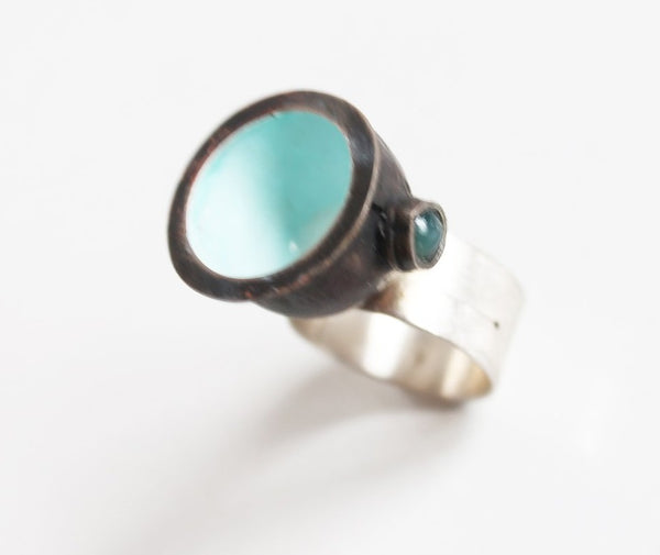Unique Bold Sculptural Contemporary Copper Ring