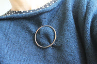 Big Minimal Circle Copper Statement Brooch