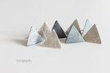 Matte Silver Triangle Unisex earrings