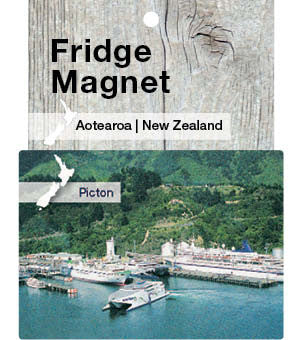 Picton Ferry Terminal, NZ - Fridge Magnet