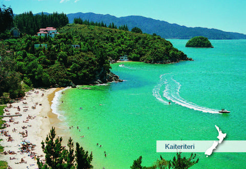 NM2543 - Breaker & Honeymoon Bays, Kaiteriteri - Small Postcard