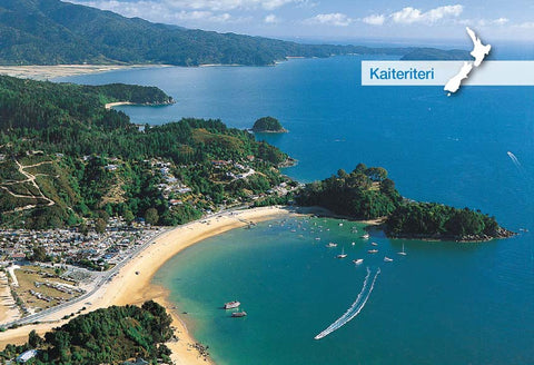 NM2560 - Kaiteriteri Aerial - Small Postcard