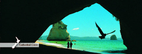 Cathedral Cove - Panoramic Magnet