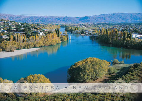 PM6684 - Clutha River & Bridge, Alexandra - Placemat