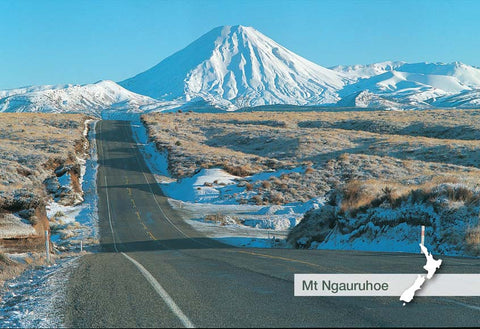 TP873 - Mt Ngauruhoe From Desert Rd - Small Postcard