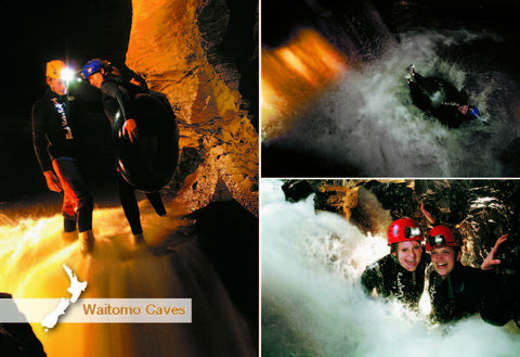 WC9452 - Black Water Rafting, Waitomo - Small Postcard