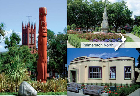WP9088 - Palmerston North - Rose Gardens - Small Postcard