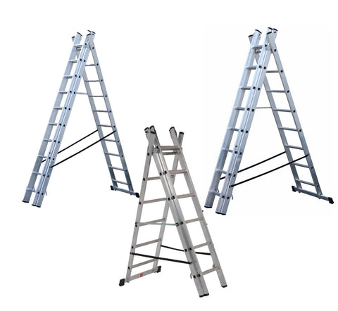 Youngman 4 Way Combination Aluminium Extension Ladders