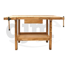 DJM Direct 01421 Oak Work Bench