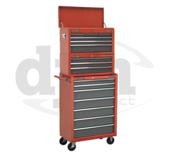 AP22507BB + AP22309BB + AP22501BB 16 Drawer Top Tool Chest & Roller Cabinet Tool Box