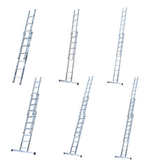 New Extension Ladders Youngman Trade 200 EN131 Triple & Double Section Aluminium