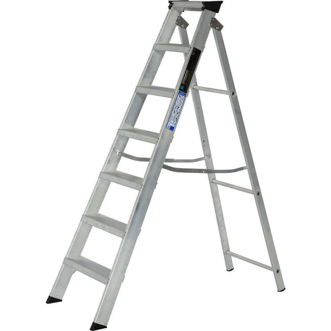 Aluminium Step Ladder Class 1 Folding Industrial Trade Youngman Heavy Duty Steps