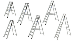 Youngman Aluminium Step Ladder Class 1 Folding Industrial Trade  Heavy Duty Steps