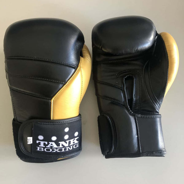 10oz Boxing Glove Black & Gold Pro Edition - Hurt Locker Perth Boxing Gym