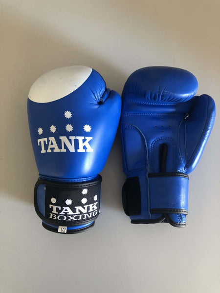 8oz Kids Boxing Glove Blue & White Cadets - Hurt Locker Perth Boxing Gym