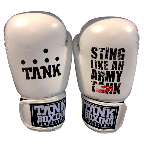 Tank Boxing 10oz Training Gloves White - Hurt Locker Perth Boxing Gym