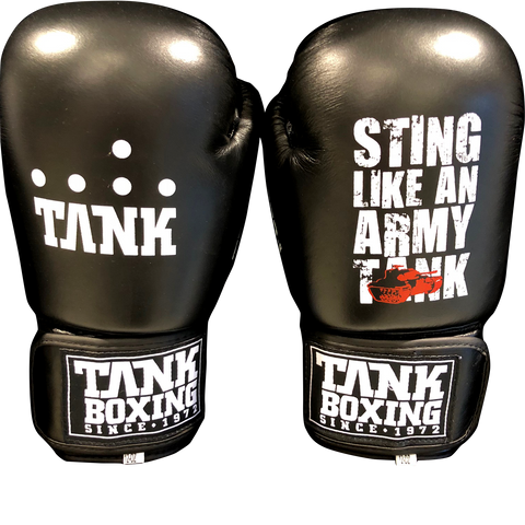 Tank Boxing 12oz Training Gloves All Black