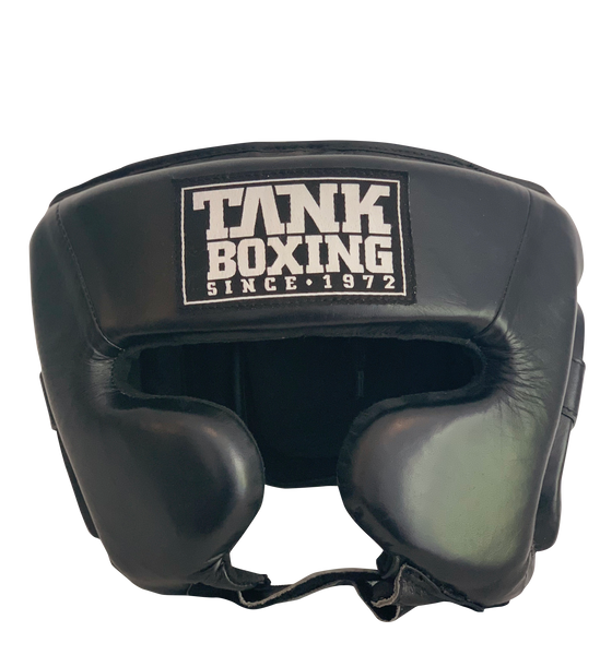 Tank Boxing Half-Face Headgear Black - Hurt Locker Perth Boxing Gym