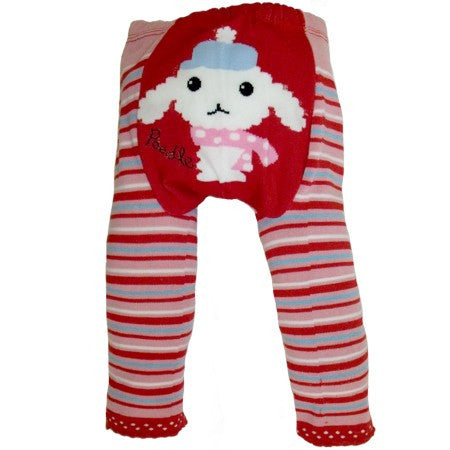 Red Stripey Lamb Leggings