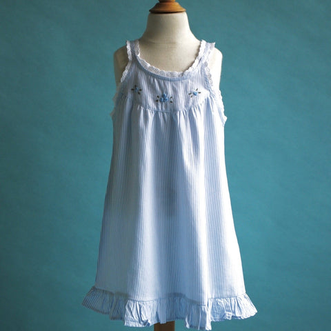 Blue and White Striped Sundress or Nightie