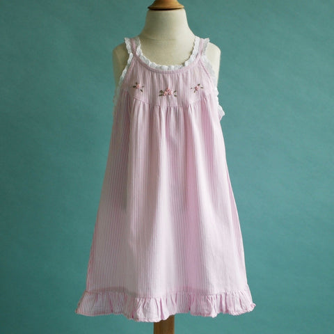 Pink and White Striped Sundress or Nightie