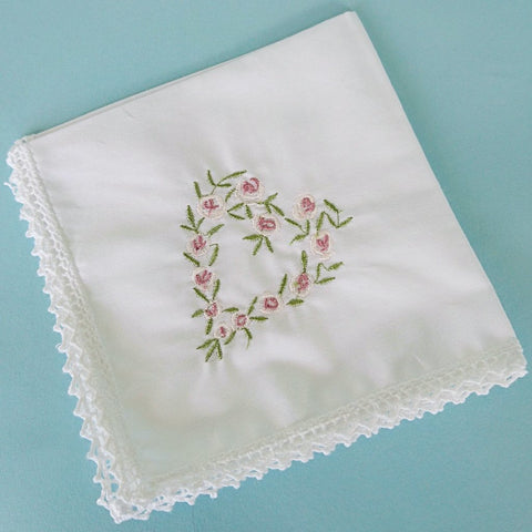 Embroidered Handkerchiefs x 4