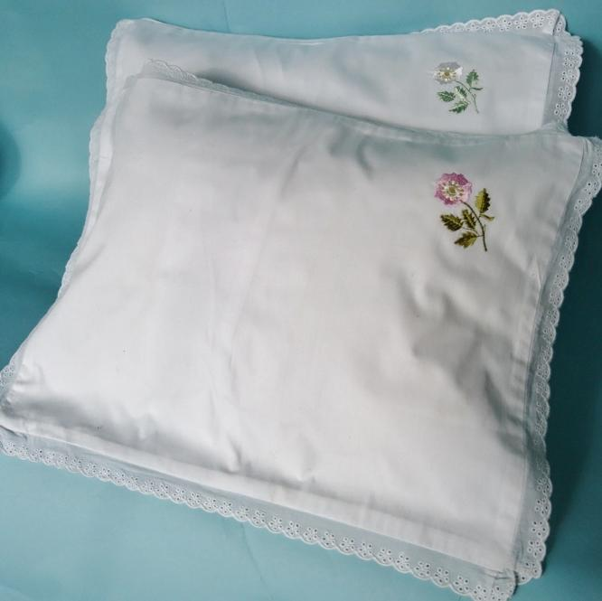 Lace Edged Baby Pillow Case ( or Travelling Pillow Case )