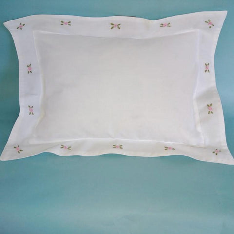Pink Rosebud  Baby Pillow (or Travelling Pillow)