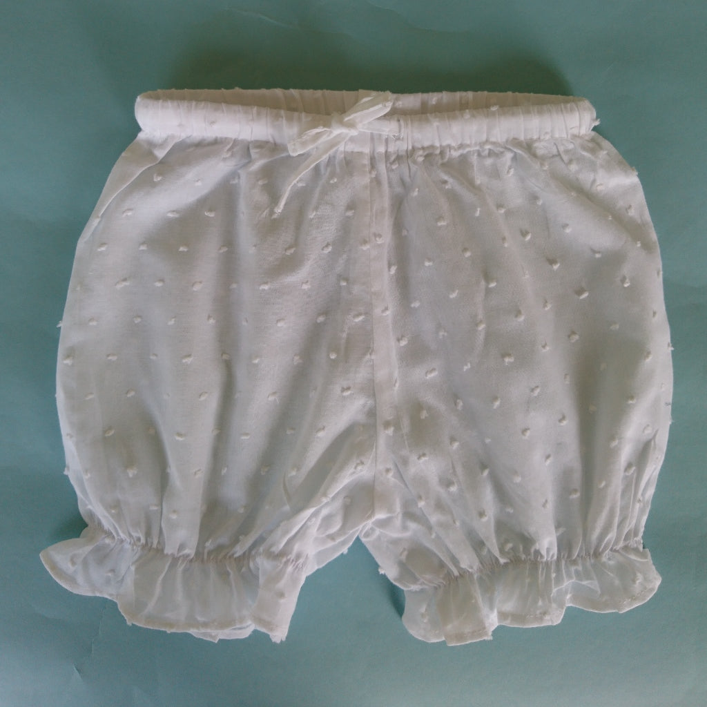 White Dotty Bloomers Short