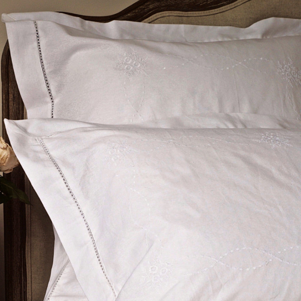 Elisabeth Pillow Case  White