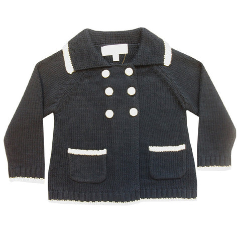 Navy Cardigan / Pram Coat