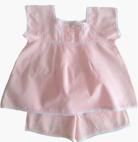 Peachie Pink Shortie Pyjamas
