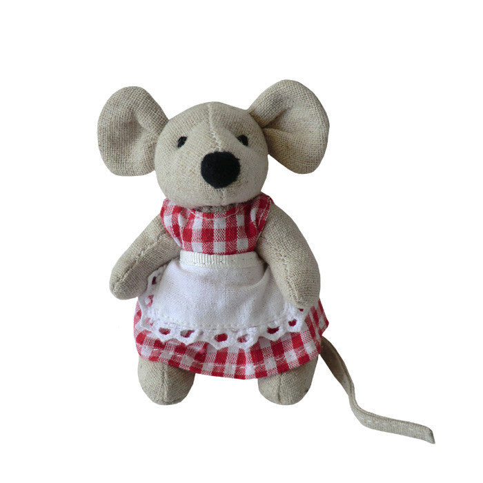 Girl(Red Gingham)Mini Mice