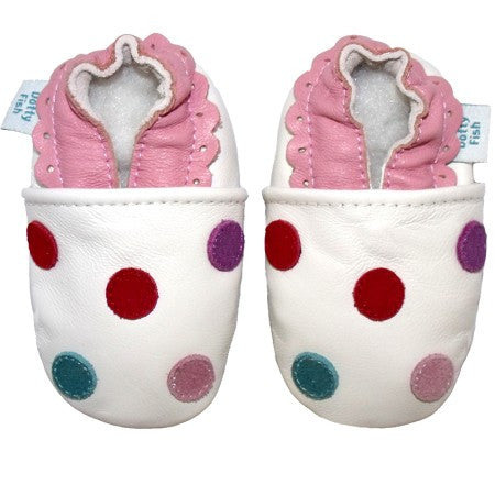 White Spotty Dotty Baby Shoes