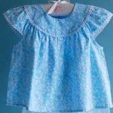 Blue Daisy Baby Top