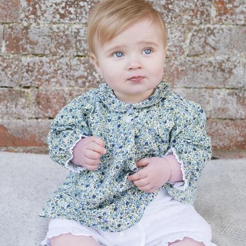 Baby Top Floral  Blue