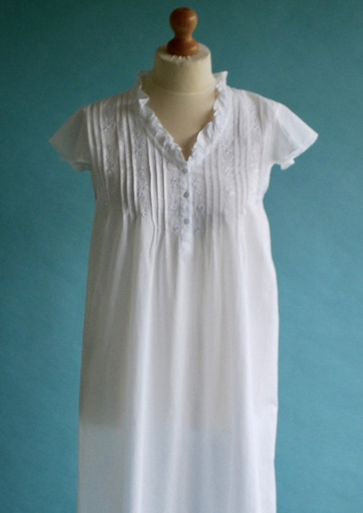 Christina Nightie with white embroidery