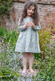Flora long-sleeved dress in blue