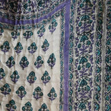 Beautiful Indian Quilt (Lavender and Turquoise)