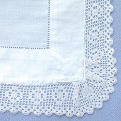 Lace Pillow Case Square (pair)