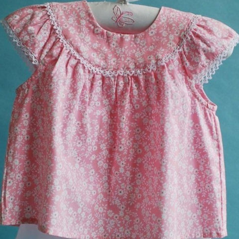 Pink Daisy Baby Top