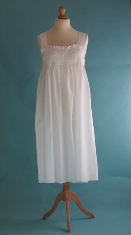 White Rosebud Nightie