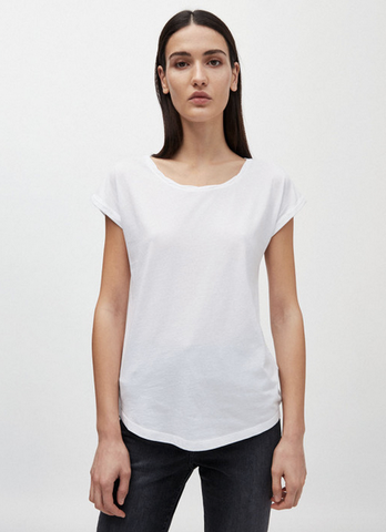 T-Shirt twisted neck, organic cotton