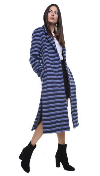Souldaze Corinne Long Blazer coat blue